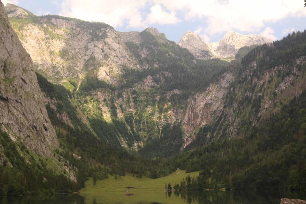 Röthbachfall over Obersee Lake