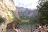 Konigssee_224_07012018 - The view from the mouth of Lake Obersee complete with the boat shed, the scenery, and lots of people