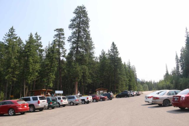 Kootenai_Falls_001_08052017 - Looking towards the busy and spacious parking area for the Kootenai Falls