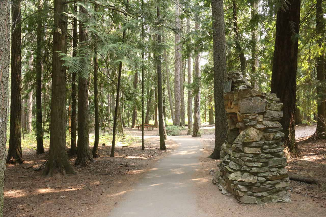 The initial part of the hike was paved as it meandered through this forested section