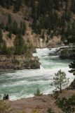 Kootenai_Falls_084_08052017 - Contextual view of this couple checking out the turbulent Kootenai River and the chute of the left segment of the Kootenai Falls