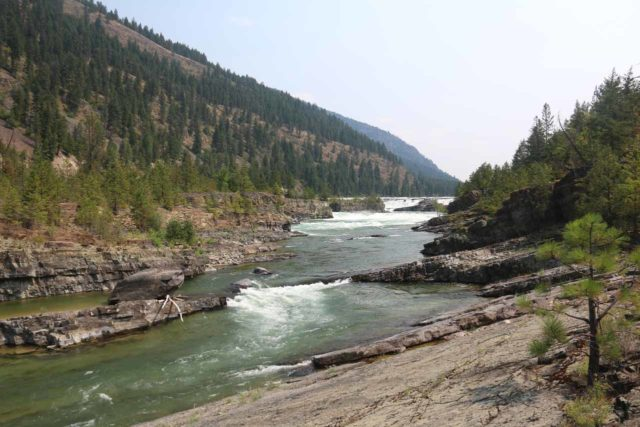Kootenai_Falls_092_08052017 - Looking upstream at intermediate 'steps' culminating in the Kootenai Falls, which was probably the biggest step in this series