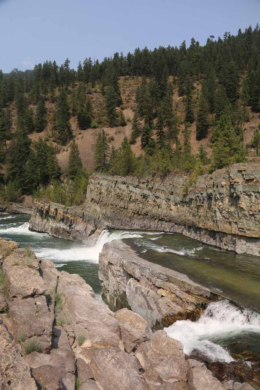 Looking across another one of the tectonic 'folds' that gave rise to an intermediate waterfall on the Kootenai River