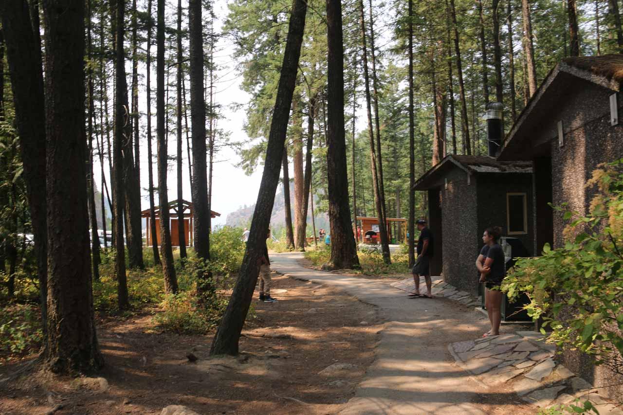 There were restroom facilities at the Kootenai Falls Trailhead