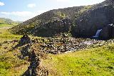 Kornsa_036_08162021 - Context of an outcrop overlooking the lowermost or first of the Kornsa Canyon Waterfalls