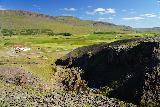 Kornsa_049_08162021 - Looking down at a farm nearest to Kornsa Canyon