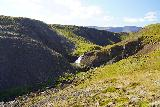 Kornsa_084_08162021 - Looking down at a distant waterfall on the Kornsa while continuing up the canyon, which I'm calling the 6th waterfall