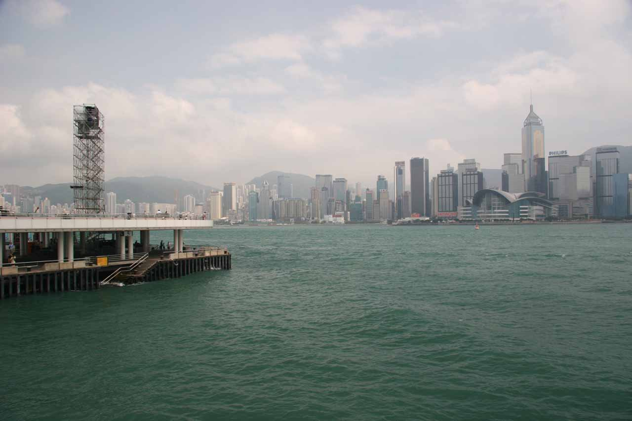 View across the harbor towards Hong Kong from Kowloon