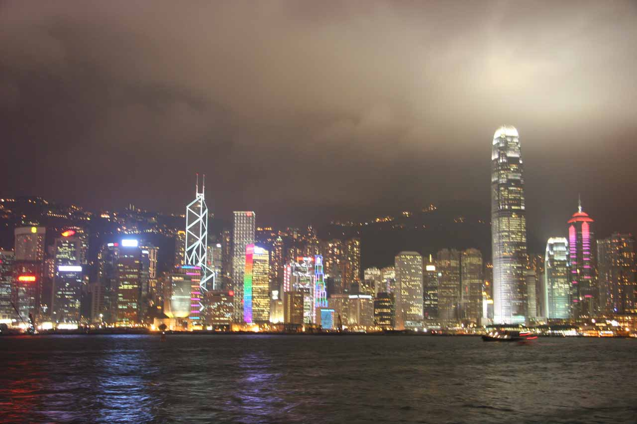 More bright city lights of Hong Kong as seen from Kowloon
