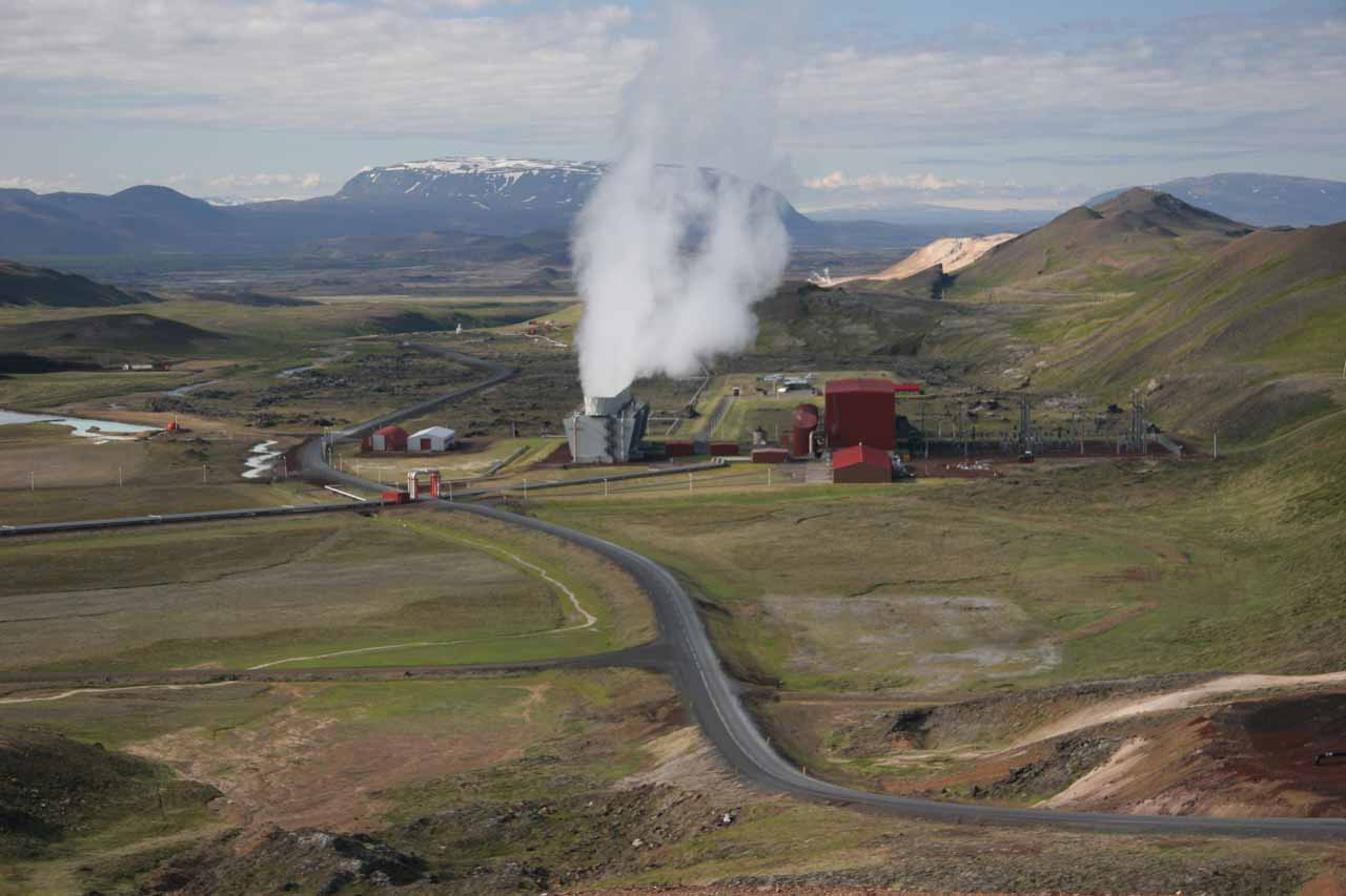 Looking down towards a geothermal plant near Krafla just to the east of the town of Reykjalið and the lake Mývatn, which were probably the closest signs of 'civilization' to the Jökulsárgljúfur