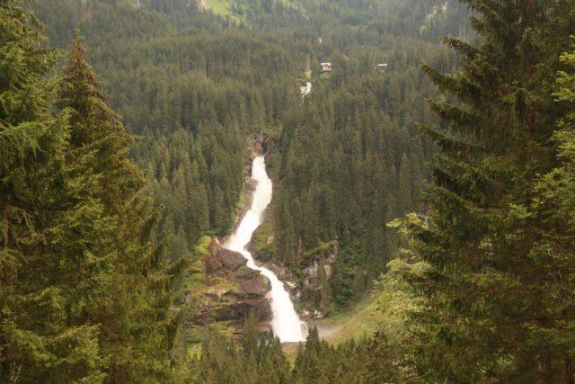 Krimml_Waterfall_419_07142018 - View from an intermediate lookout towards the Krimml Waterfalls from the opposite side of the valley en route to the Wasserfälleblick