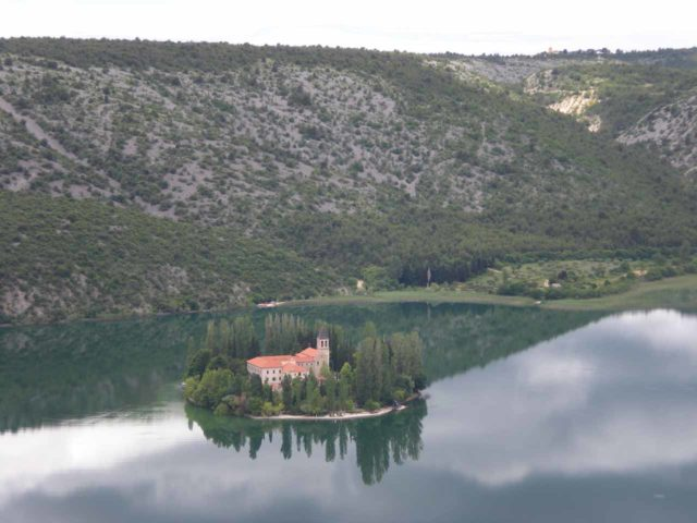 Krka_008_jx_06032010 - The Visovac Monastery was also part of Krka National Park, but we happened to get this overlook of it while driving between Skradin and Roski Slap
