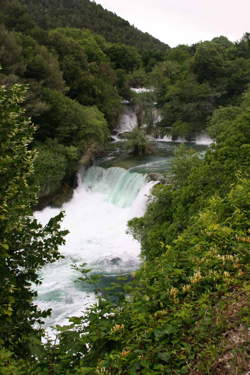 More cascades of Skradinski Buk further upstream
