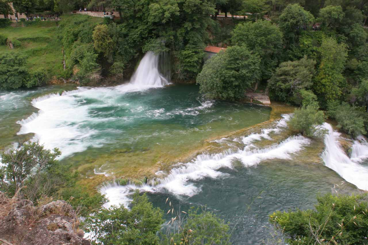 More upper waterfalls of Skradinski Buk