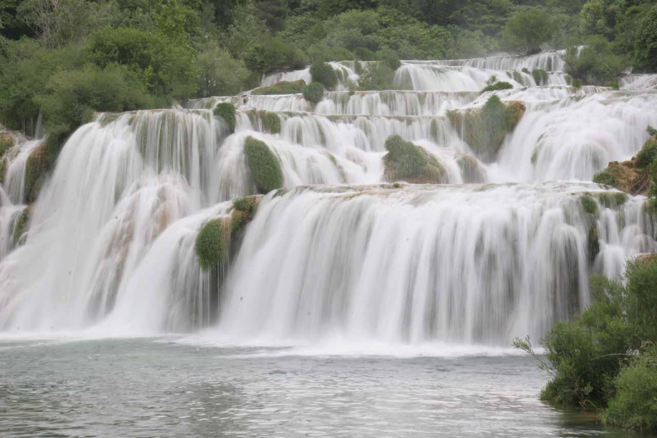 Our last look of Skradinski Buk focused on just part of the main waterfall