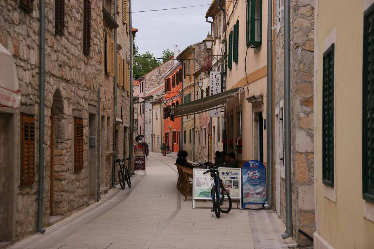 Walking back through the charming streets of Skradin to our hotel