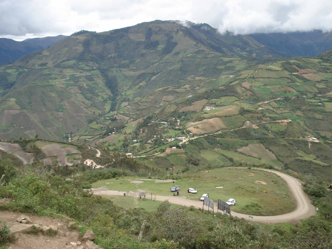 Not too far south from the Cocachimba turnoff on the main highway is the city of Chachapoyas.  The main archaeological attraction nearby here is called Kuelap, which is a fortress perched atop a mountain yielding gorgeous panoramic views of the surrounding mountains