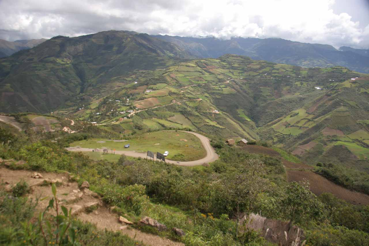 This was the panorama from the fortress of Kuelap as we looked towards the surrounding cultivated fields