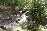 Kuhflucht_Waterfall_075_06272018 - As I briefly followed a spur trail that followed along the banks of the Kuhfluchtgraben, I got this view of an intermediate waterfall shooting onto a sloping slab of rock