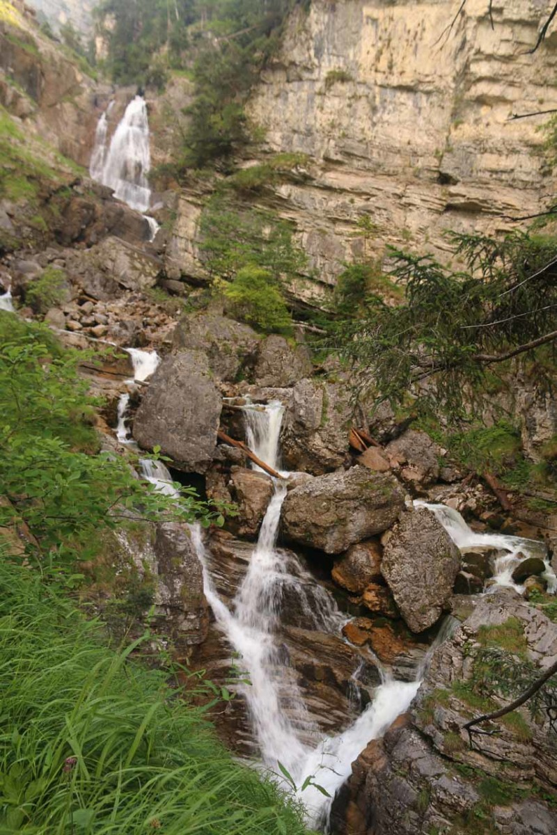 One of the more dramatic sections of the Kuhflucht Waterfalls