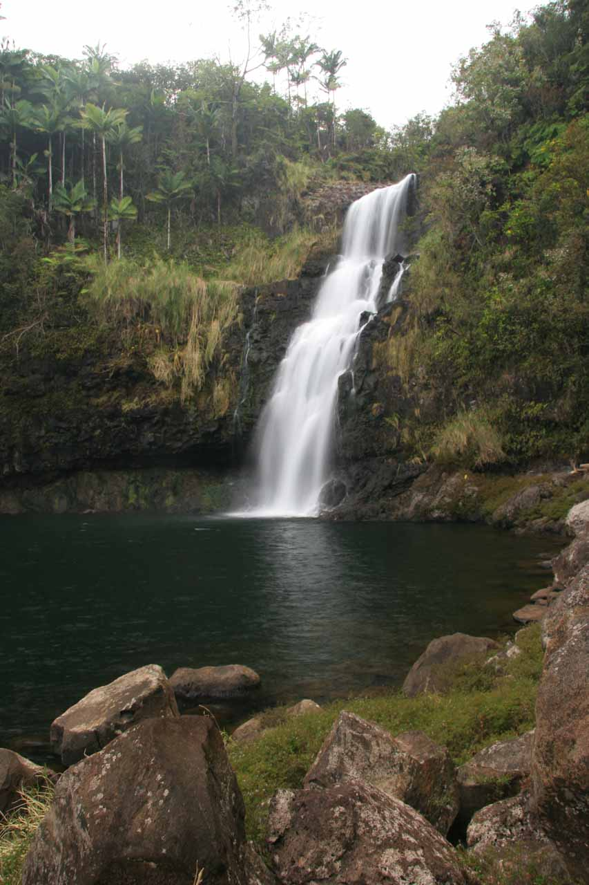 More of Kulaniapia Falls under the ideal lighting conditions