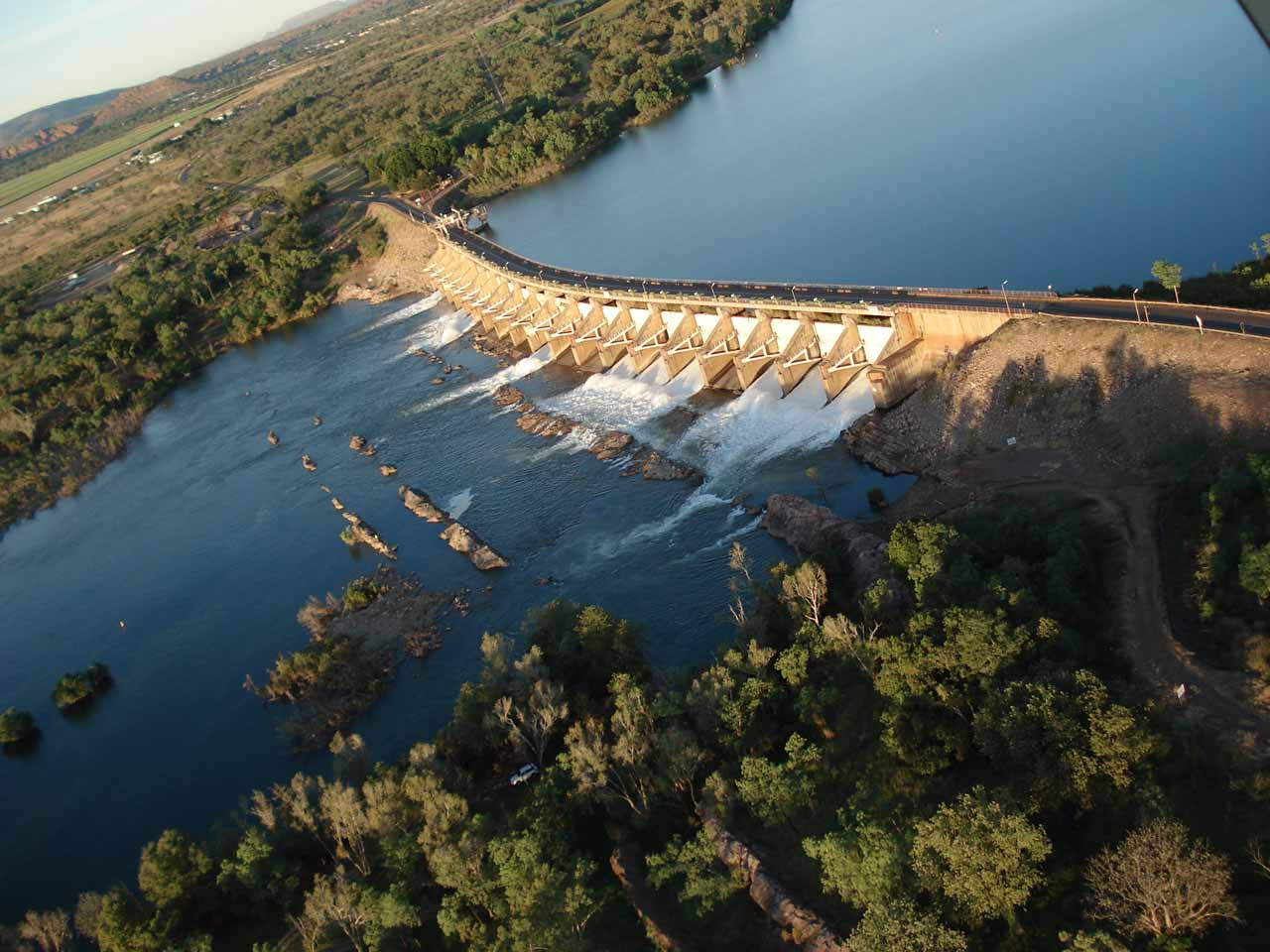 The dam holding up the Ord River