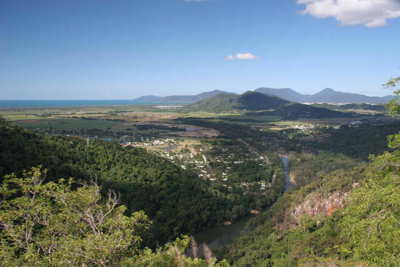 While we were riding the Kuranda Scenic Railway, we managed to get these broad expansive views towards the Cairns lowlands as we were getting closer to the endpoint at Cairns