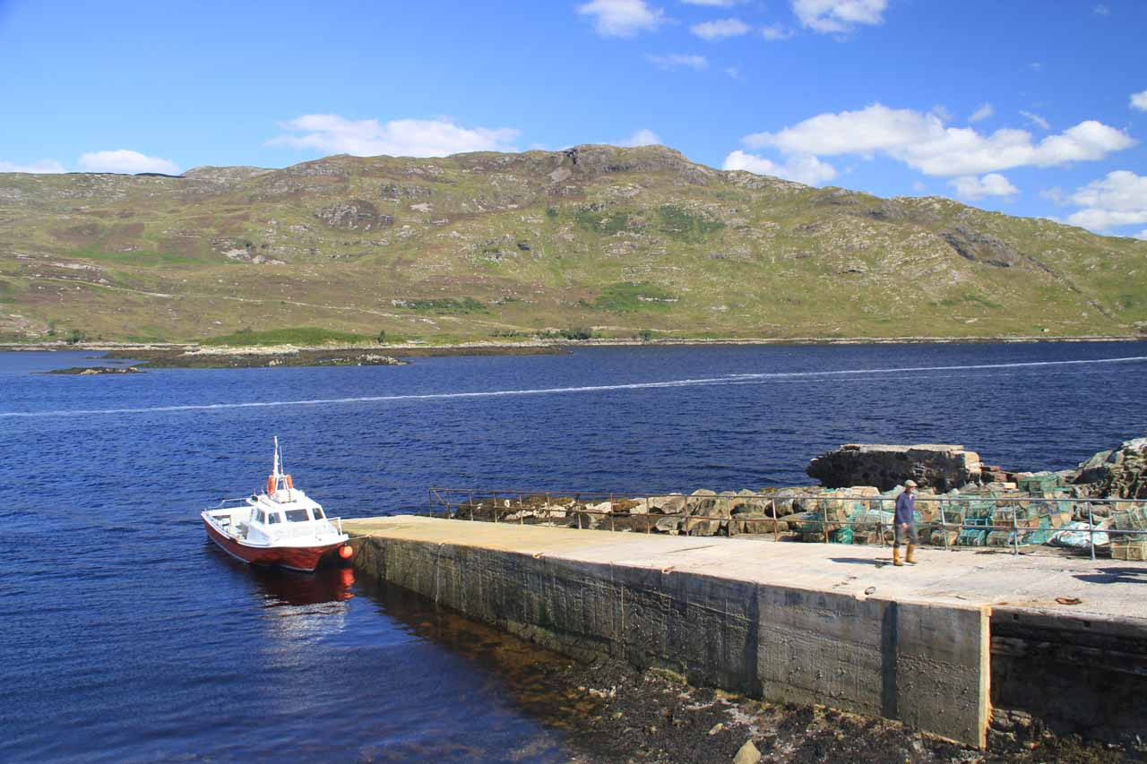 The boat and ramp