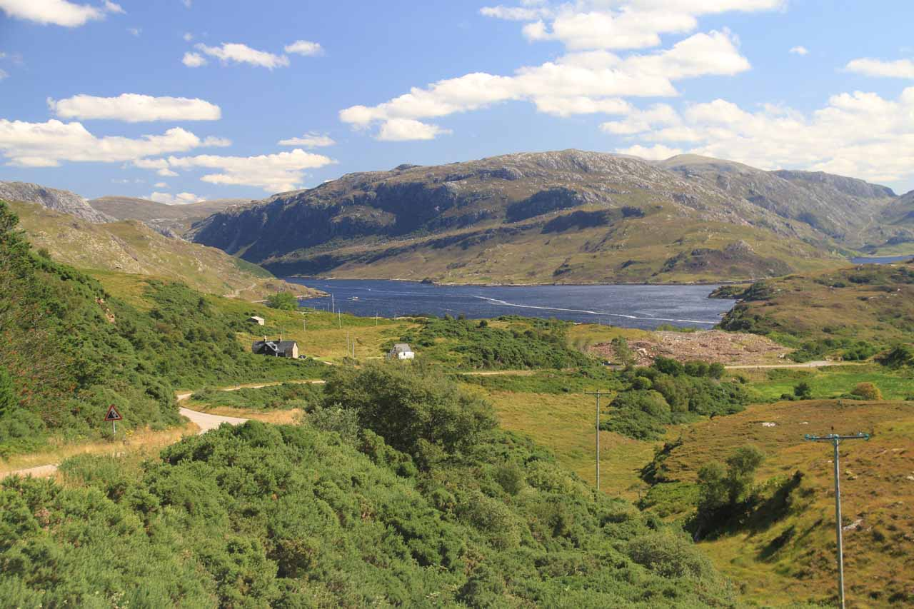 About 45 miles north of Corrieshalloch Gorge was the small village of Kylesku which was where boat tours for Glencoul, Loch Beag, and the Eas a' Chual Aluinn Waterfall were based