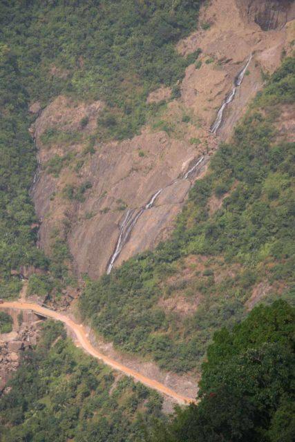 Kynrem_Falls_019_11092009 - Focused look at the Kynrem Falls spilling towards a road that descended to Bangladesh