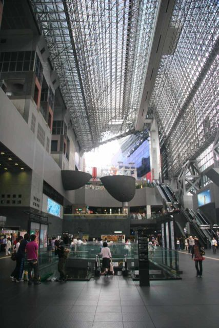 Inside the impressive JR Kyoto Station, which was also connected with the underground subway trains. A classic example of just how efficient public transportation in Japan is