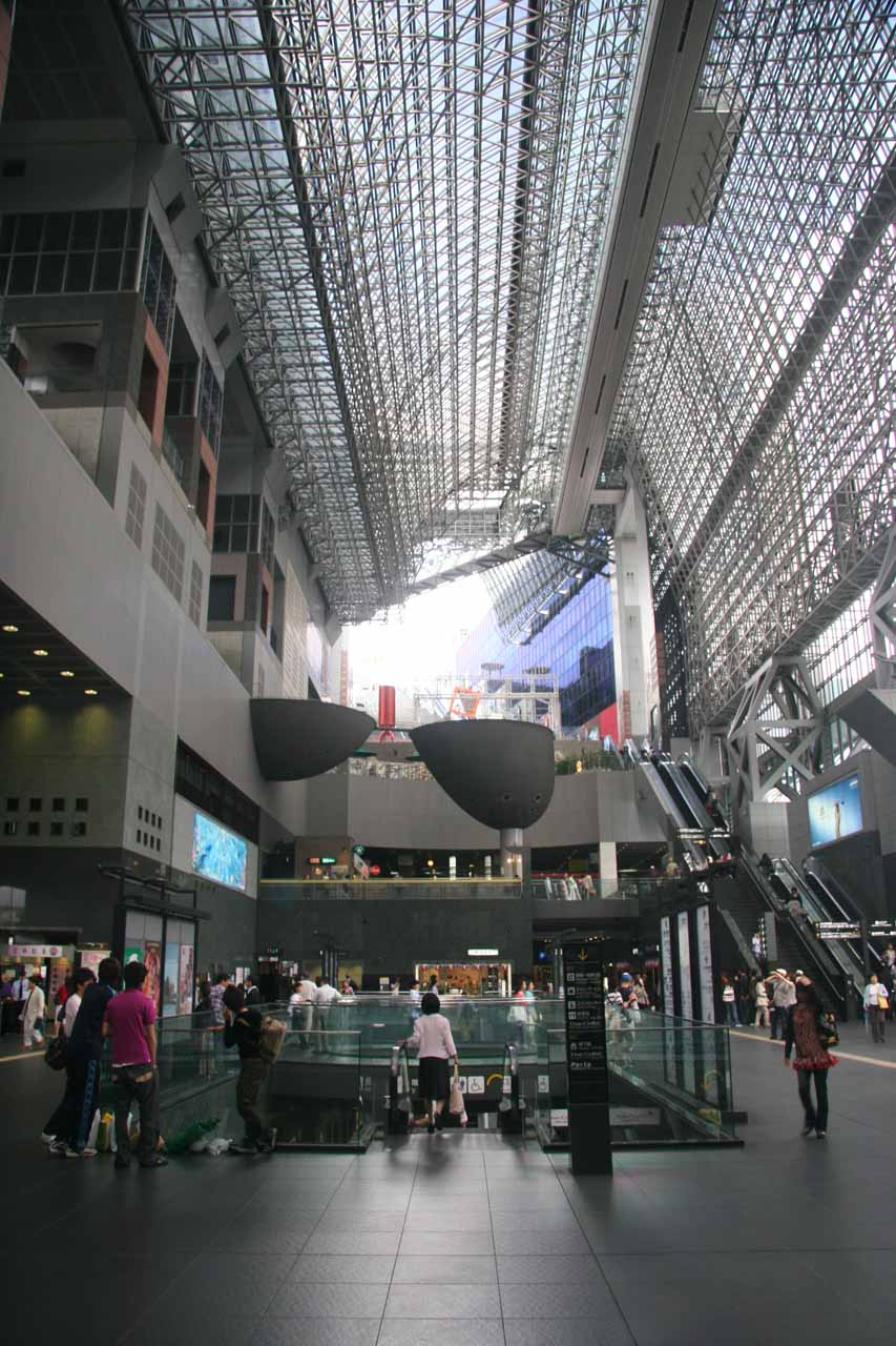 The fancy modern looking Kyoto Station