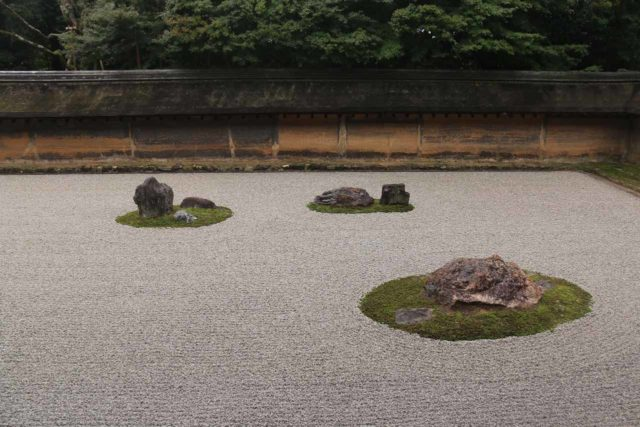 Kyoto_032_10242016 - About an hour's train ride from Osaka to the east was Kyoto, which was arguably Japan's cultural capital. Shown here was the famous rock garden at Ryoan-ji
