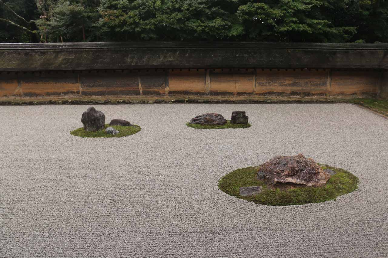 About an hour's train ride from Osaka to the east was Kyoto, which was arguably Japan's cultural capital. Shown here was the famous rock garden at Ryoan-ji