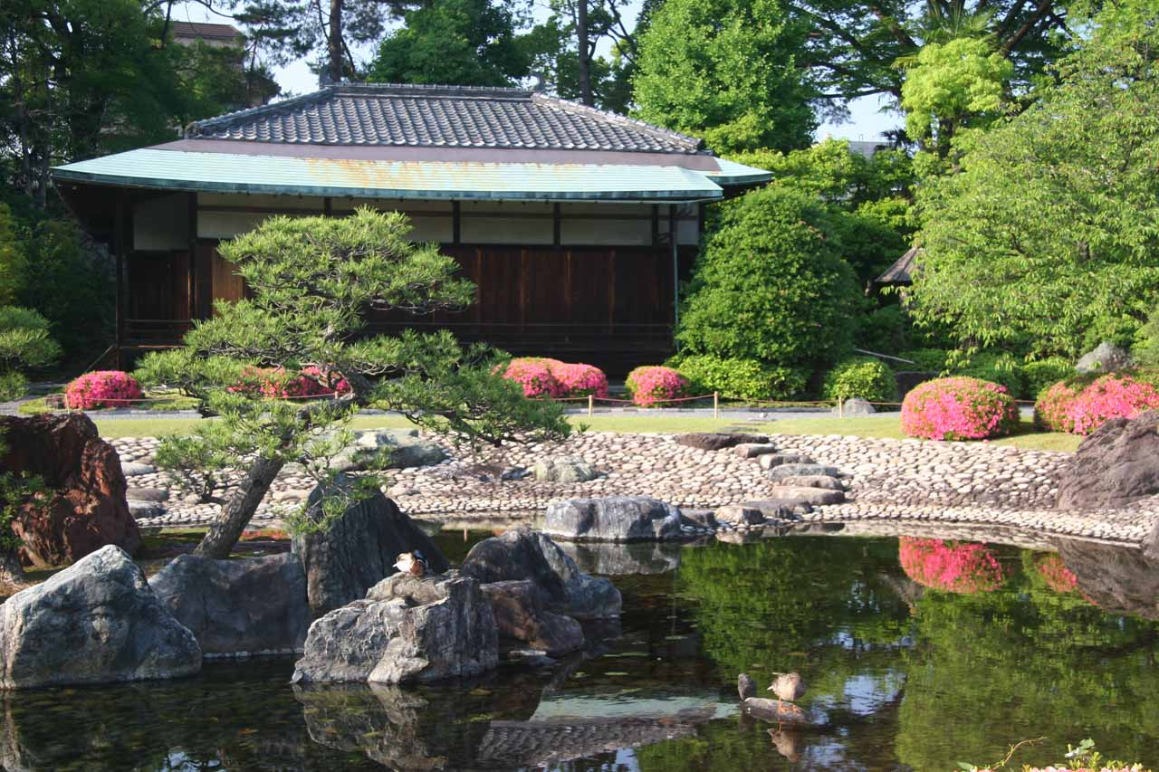 The attractive garden around Nijo-jo