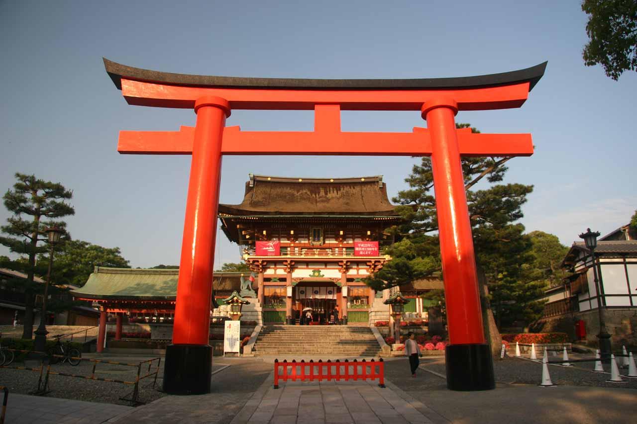 Torii at the entrance of Fushimi Shrine
