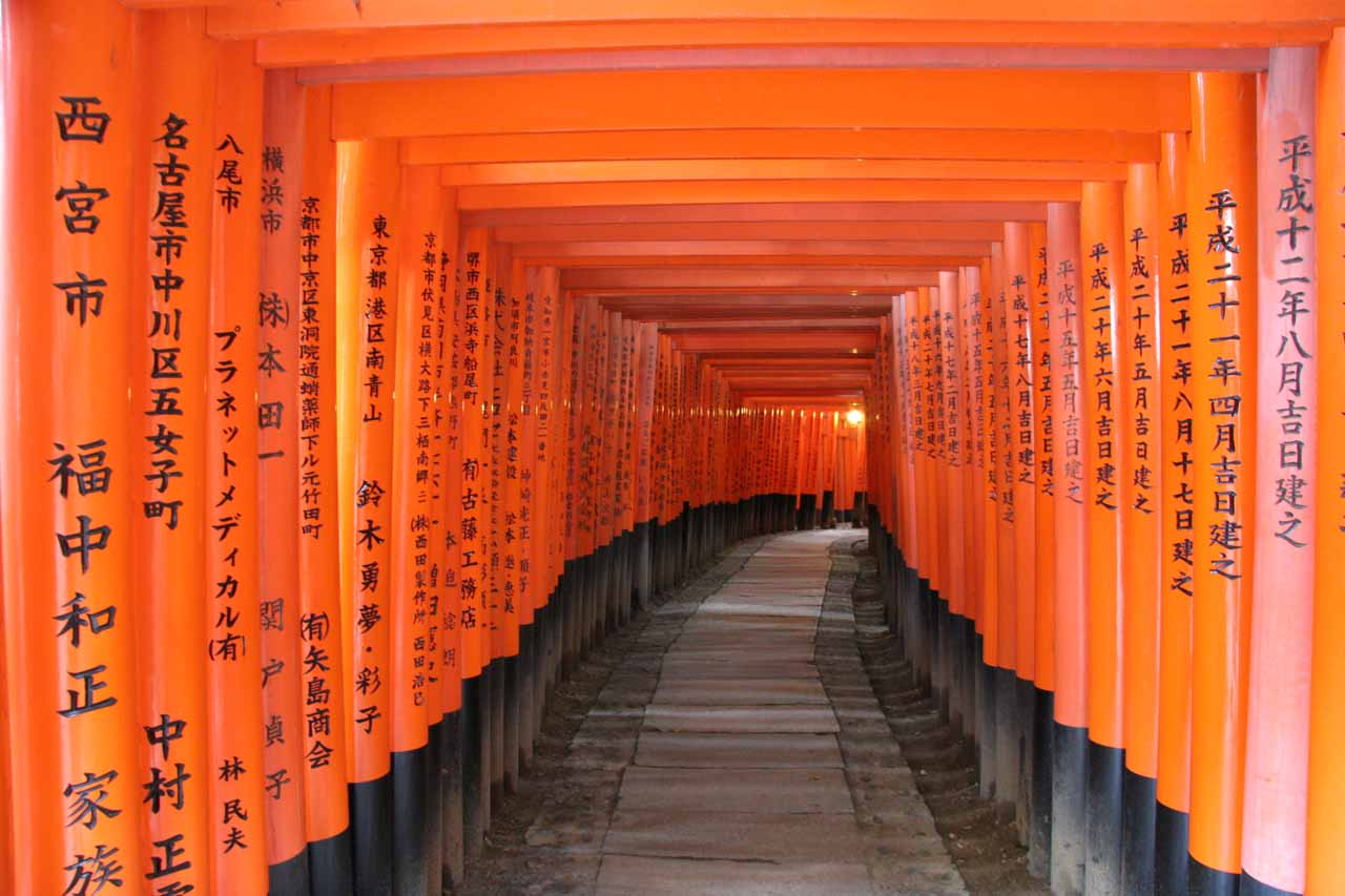 The Fushimi Inari Taisha in Kyoto