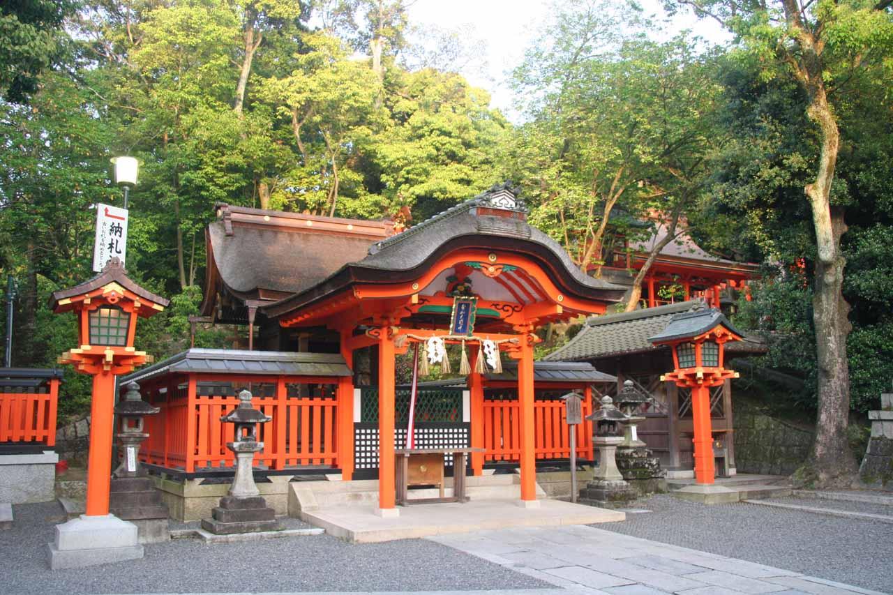 A small shrine as we were leaving the Fushimi Shrine