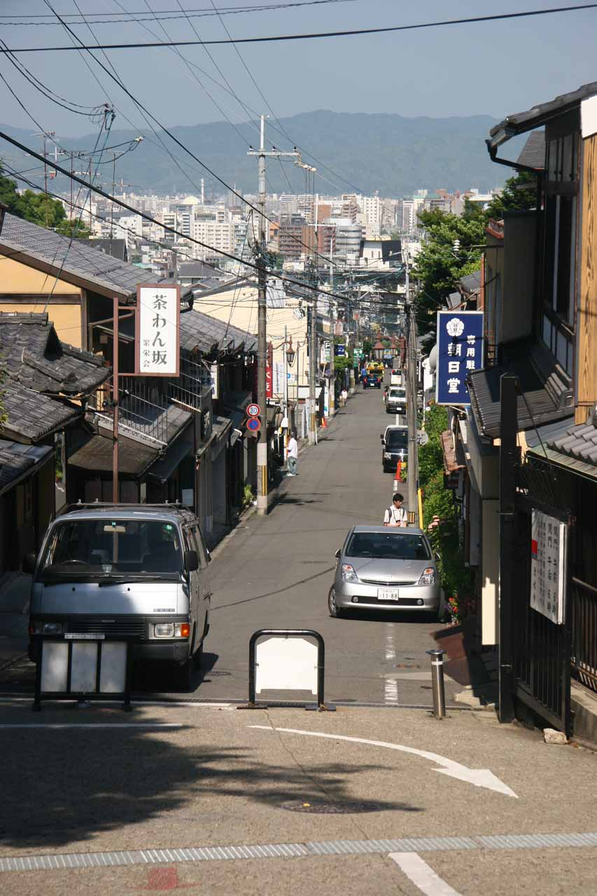 Heading up to Kiyomizu Temple from Gojozaka Stop