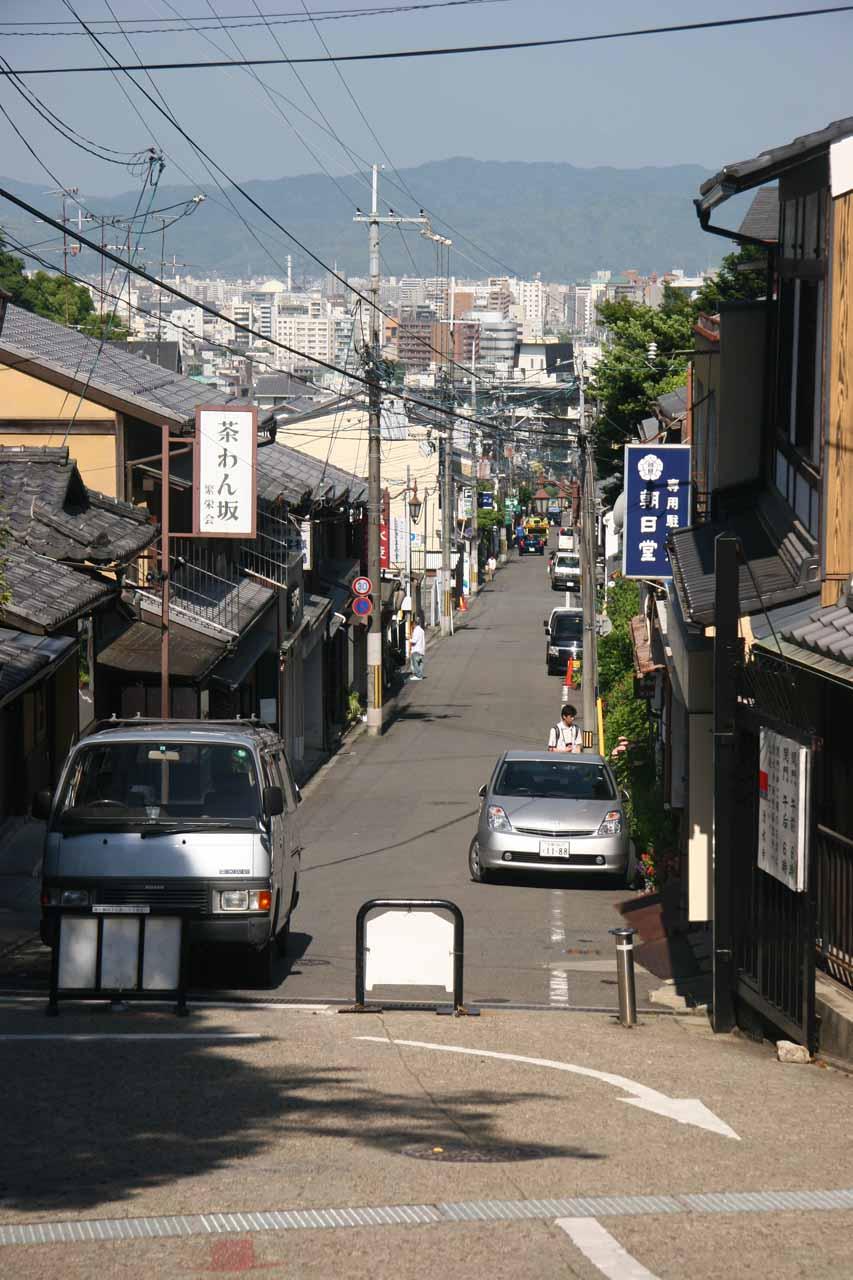 Heading up to Kiyomizu Temple from Gojozaka Stop