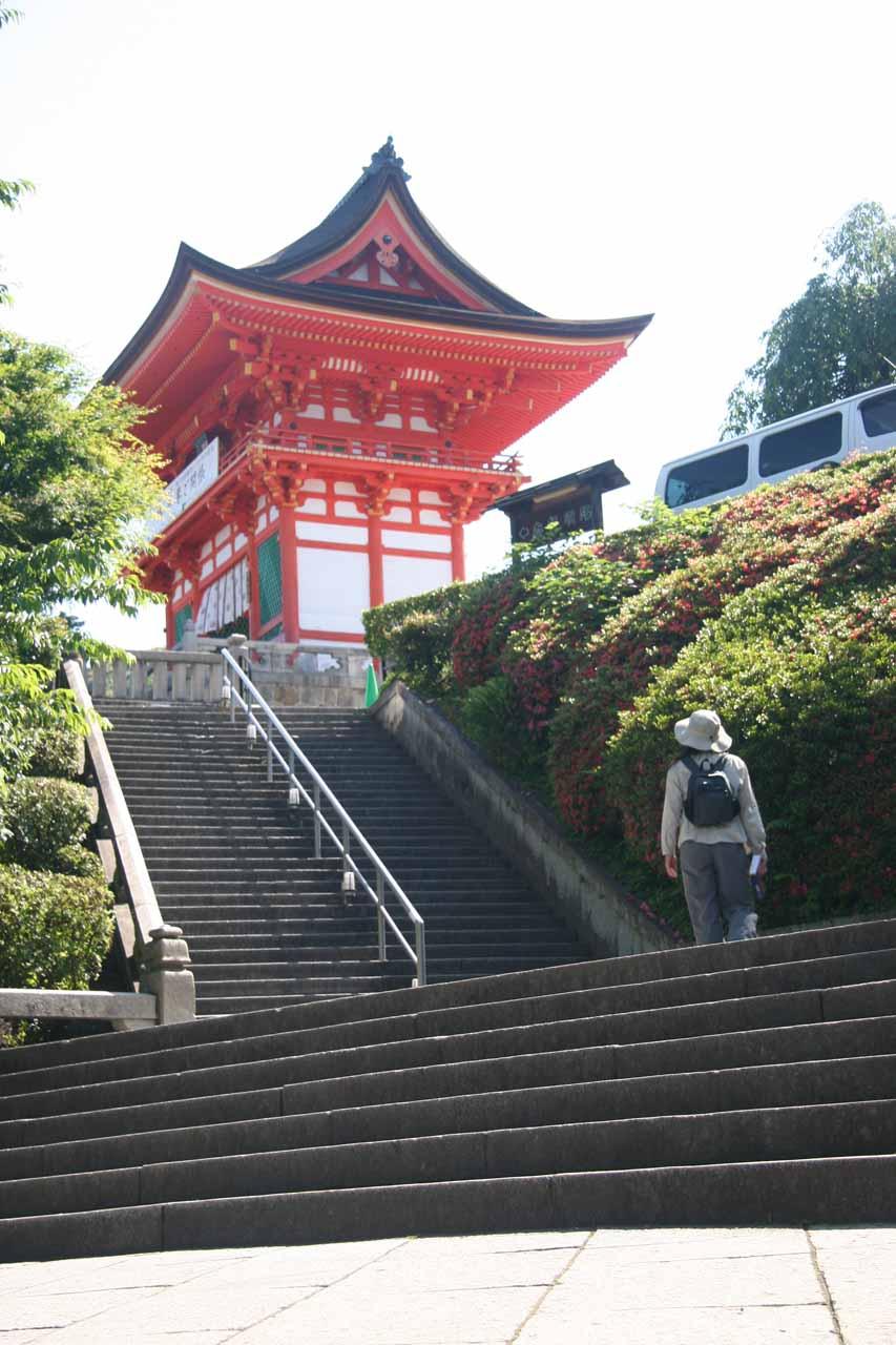 Stairs leading right up to Kiyomizu-dera