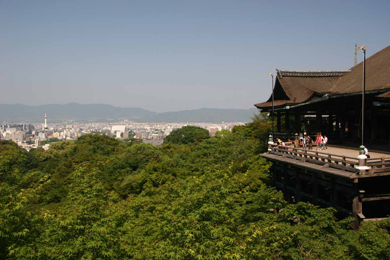 Another view of Kyoto from Kiyomizu-dera