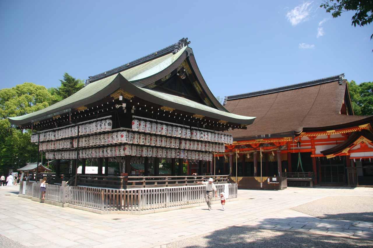 In the Yasaka-jinja