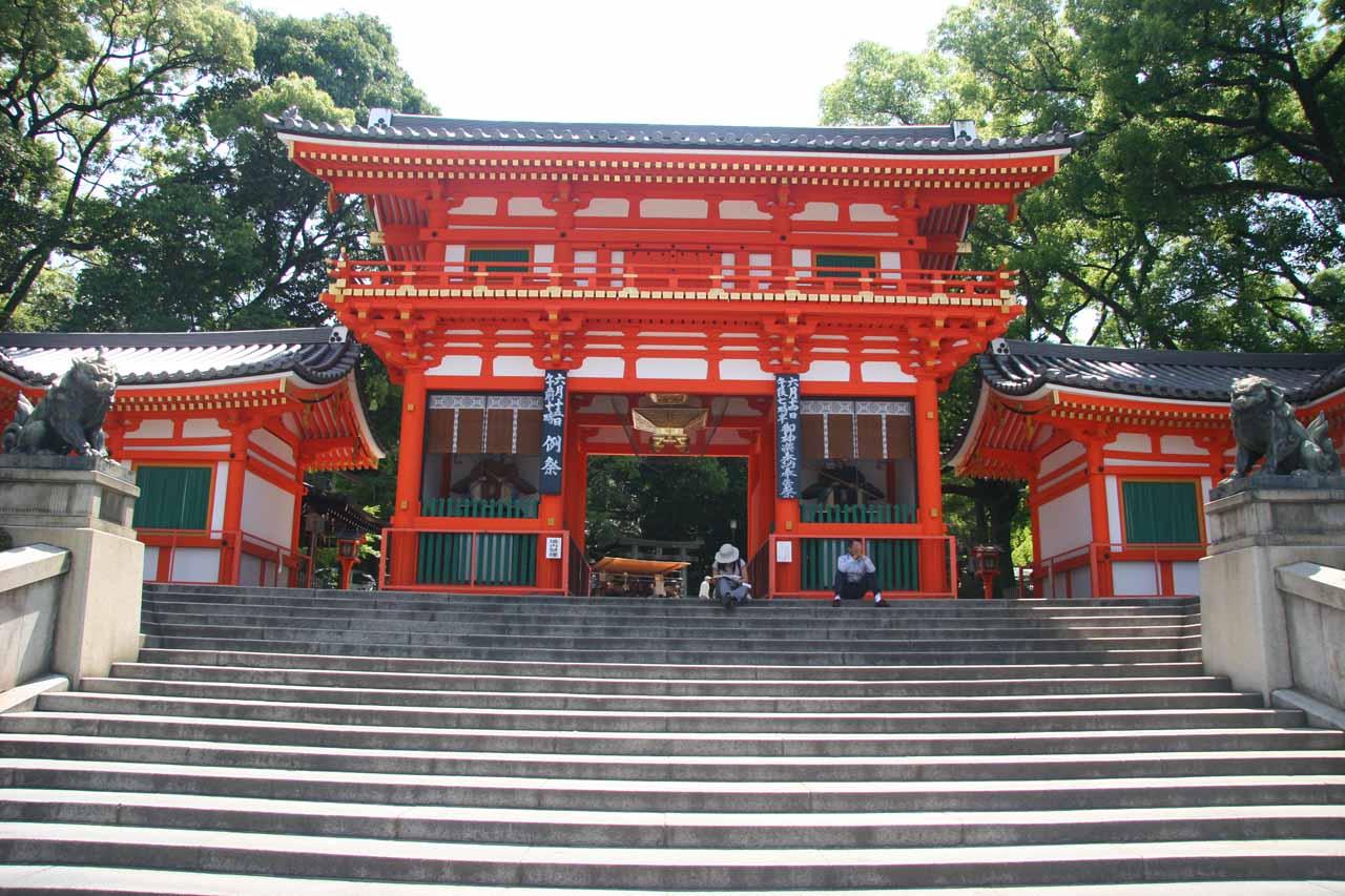 Leaving Yasaka-jinja for the city