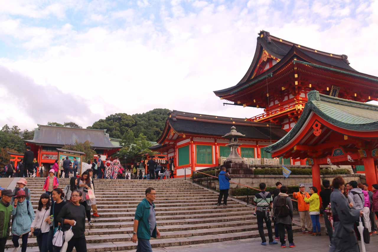 The Fushimi Inari Shrine was one of the more atmospheric spots in Kyoto. It was definitely busier on our second visit in 2016 than when Julie and I first came here in 2009