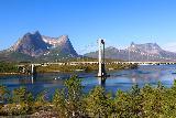Kystriksveien_032_07072019 - Looking ahead at the bridge spanning the Forsahavet on the E6 en route to Skarberget
