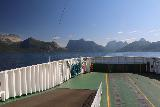 Kystriksveien_059_07082019 - Contextual look towards the back of the ferry during our traverse of Tysfjorden from Skarberget to Skognes