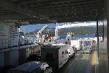 Kystriksveien_074_07082019 - The car deck of the ferry from Skarberget to Skognes