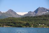 Kystriksveien_375_07082019 - Focused on one of the two side-by-side glacier arms of Svartisen as seen from Arhaugfjorden