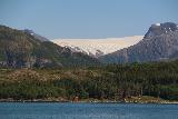 Kystriksveien_382_07082019 - Looking towards the other of two side-by-side glacier arms of Svartisen as seen from Arhaugfjorden